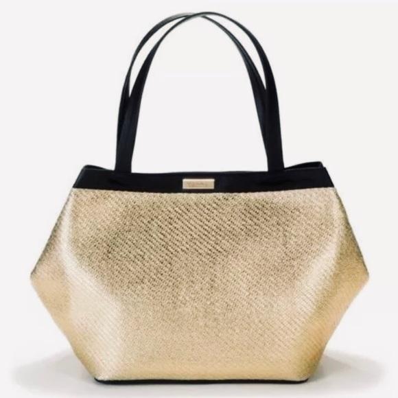 6cede213e2e1 Versace Gold Metallic Tote Purse Weekender Bag NWT. NWT. Versace.  M 5c7305c804e33d174689d063. M 5c7305cde944baf435e96a39.  M 5c7305d3a5d7c6617370e588